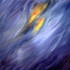 Sterrenvlucht / Olieverfschilderij